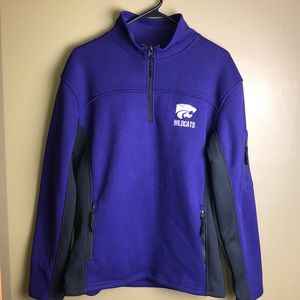 K State Wildcats 3/4 pullover men's M